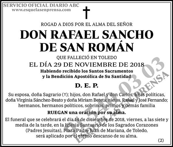 Rafael Sancho de San Román